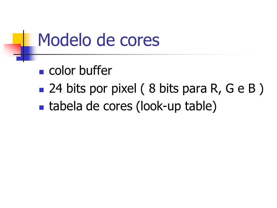 Modelo de cores color buffer