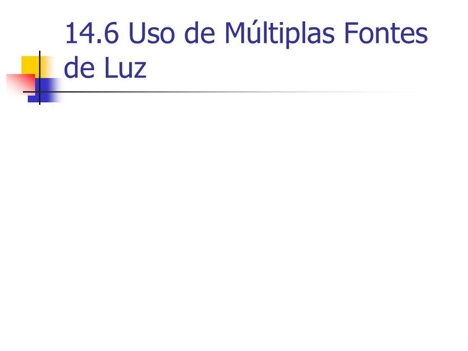 14.6 Uso de Múltiplas Fontes de Luz
