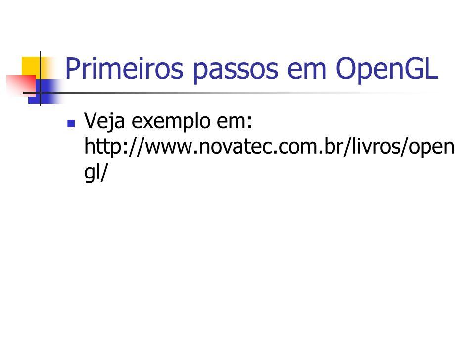 Primeiros passos em OpenGL