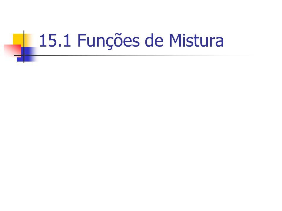 15.1 Funções de Mistura