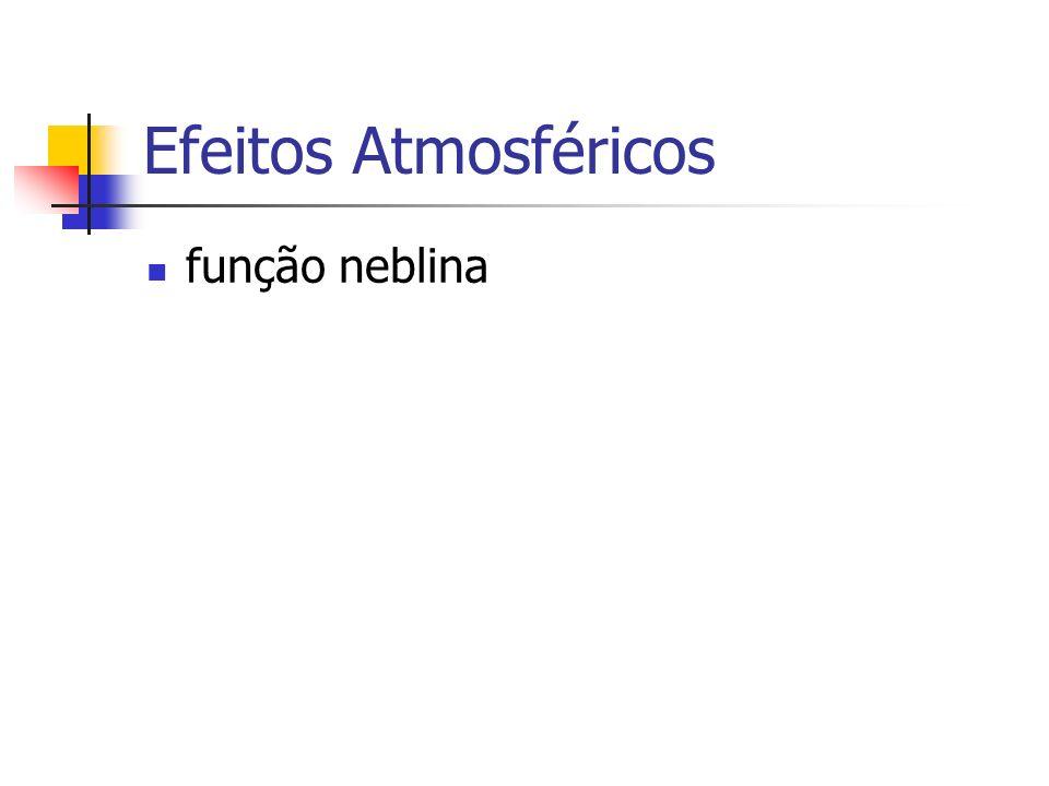 Efeitos Atmosféricos função neblina