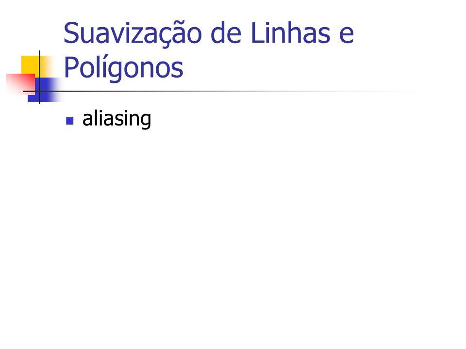 Suavização de Linhas e Polígonos