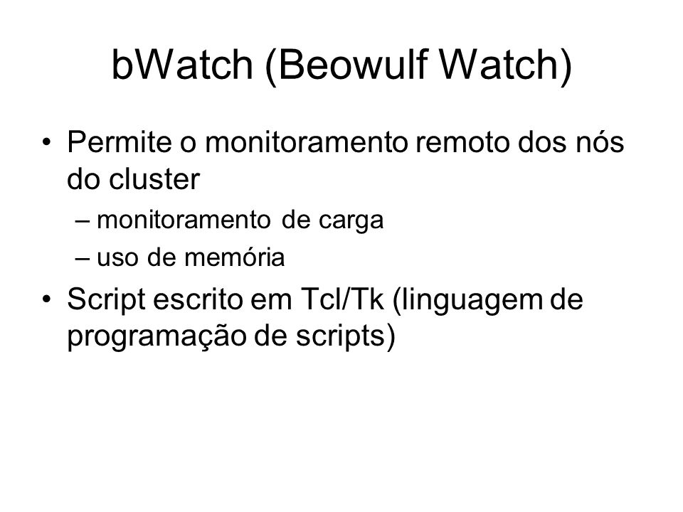 bWatch (Beowulf Watch)