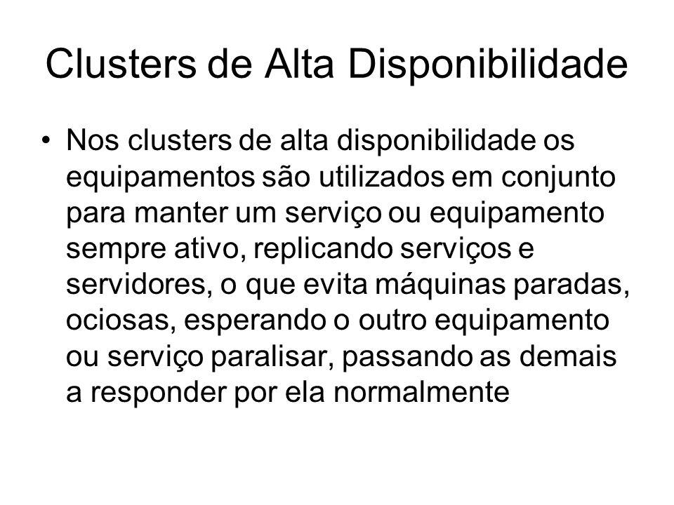 Clusters de Alta Disponibilidade