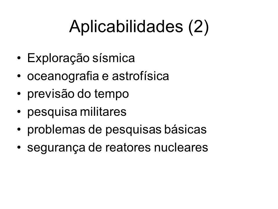 Aplicabilidades (2) Exploração sísmica oceanografia e astrofísica