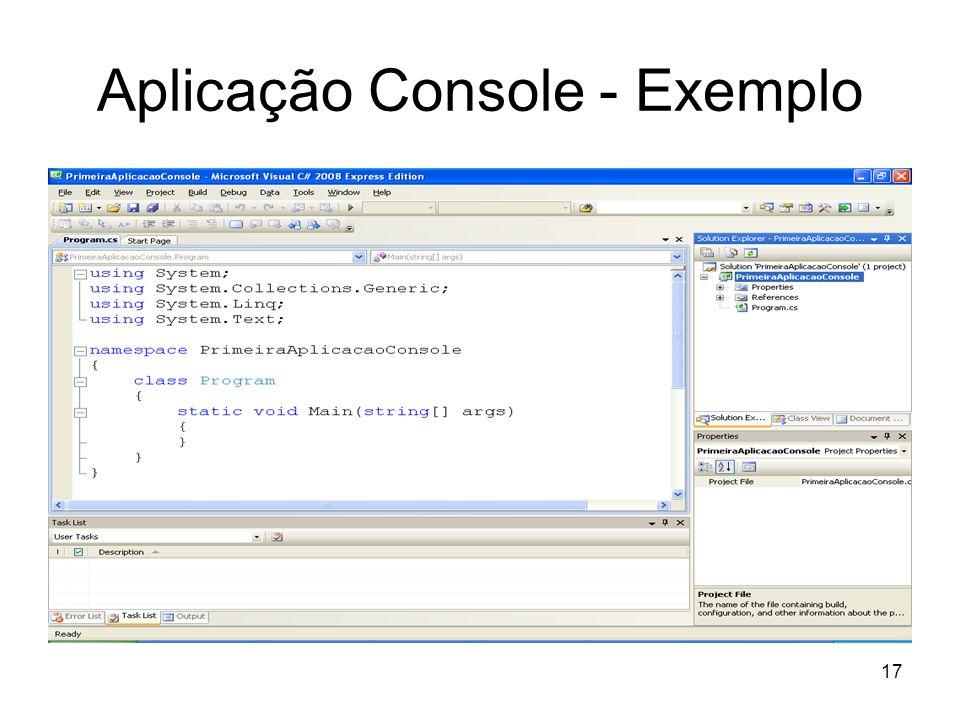 Aplicação Console - Exemplo