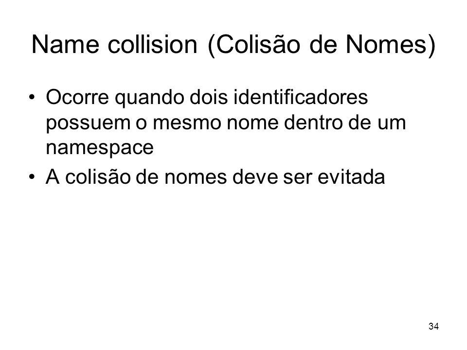Name collision (Colisão de Nomes)