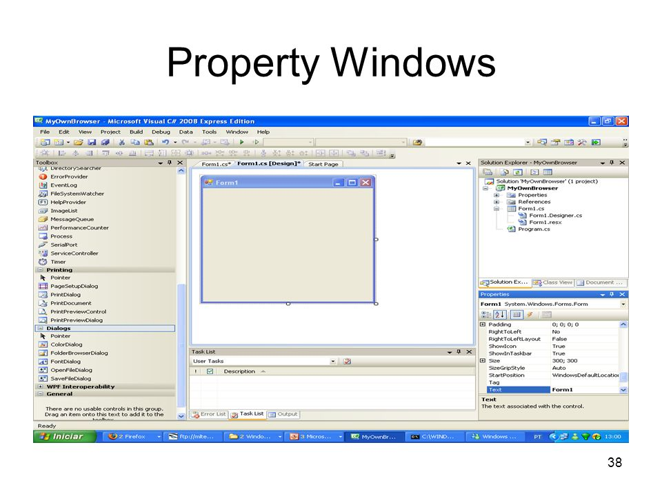 Property Windows