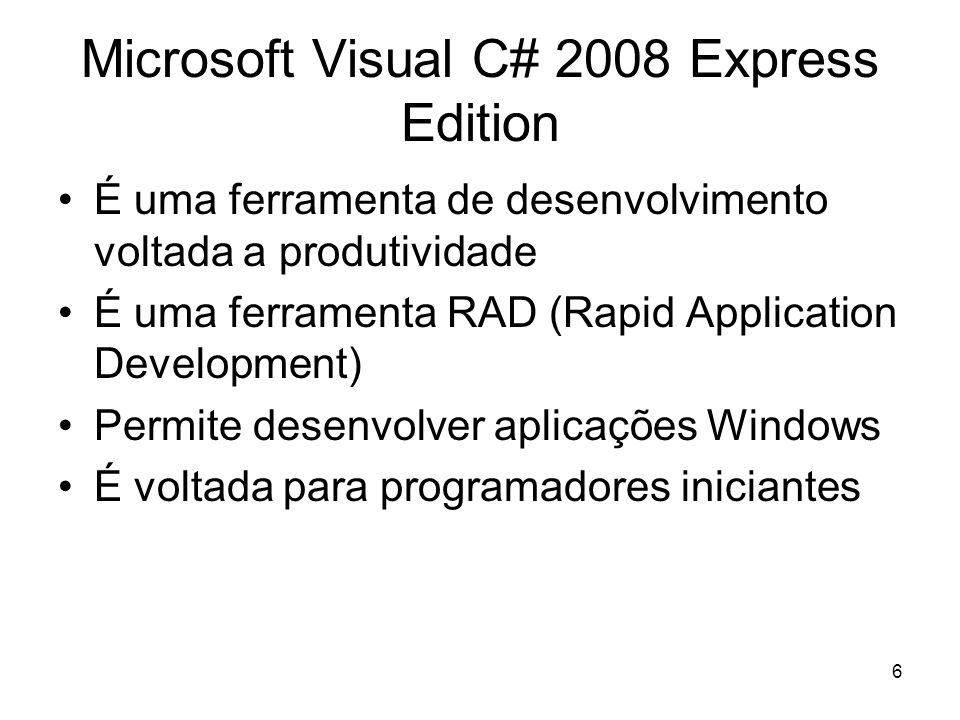 Microsoft Visual C# 2008 Express Edition