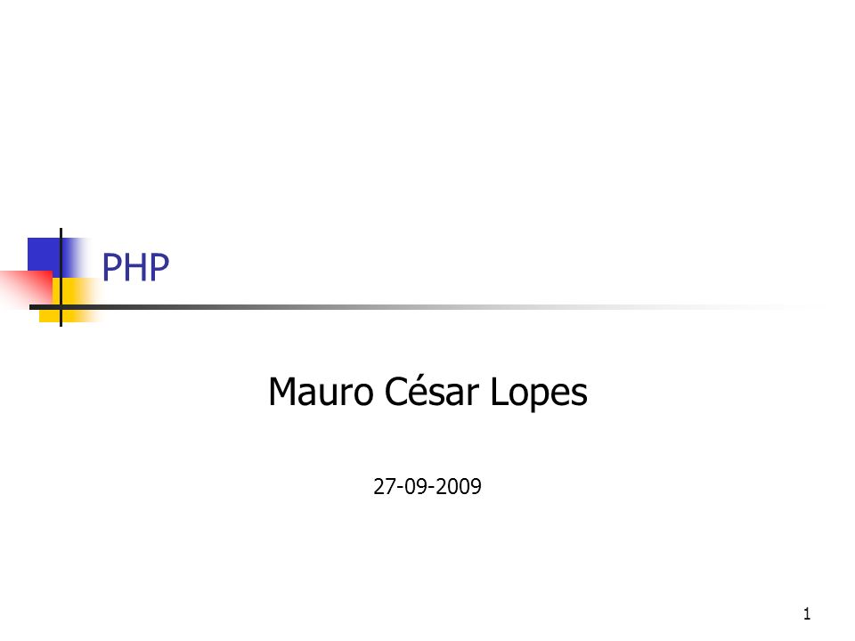 PHP Mauro César Lopes 27-09-2009