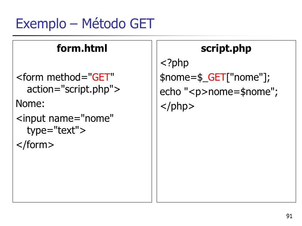 Exemplo – Método GET form.html