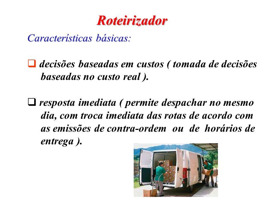 Roteirizador Características básicas: