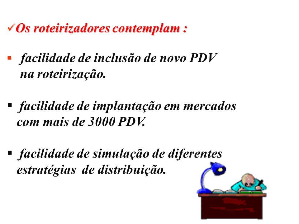 facilidade de implantação em mercados com mais de 3000 PDV.