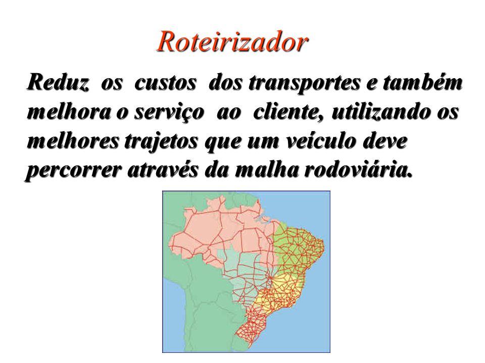 Roteirizador Reduz os custos dos transportes e também
