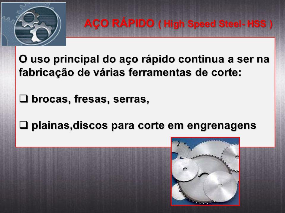 AÇO RÁPIDO ( High Speed Steel- HSS )