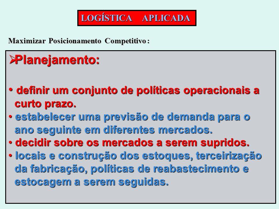 definir um conjunto de políticas operacionais a