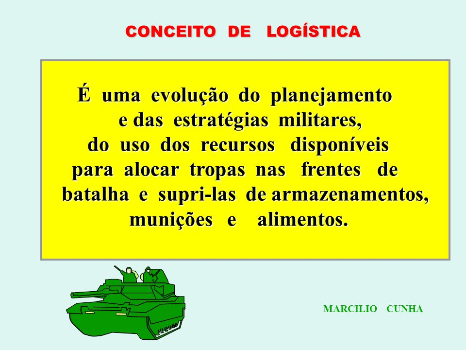 e das estratégias militares, do uso dos recursos disponíveis