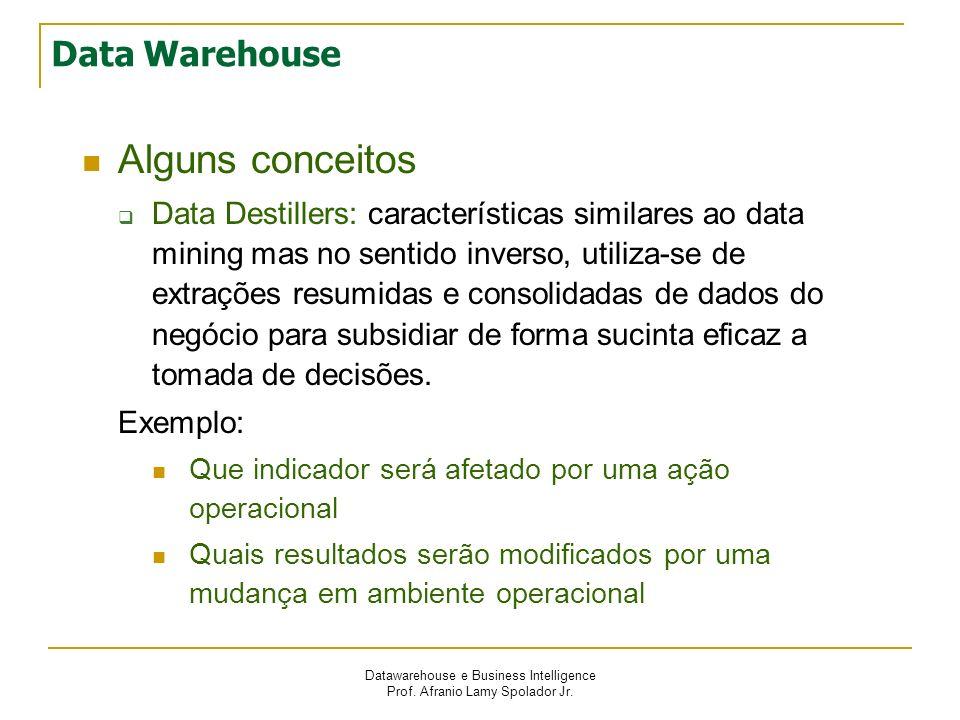 Alguns conceitos Data Warehouse