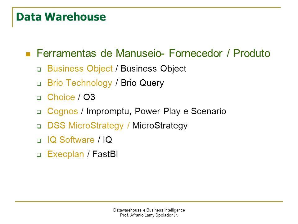 Ferramentas de Manuseio- Fornecedor / Produto