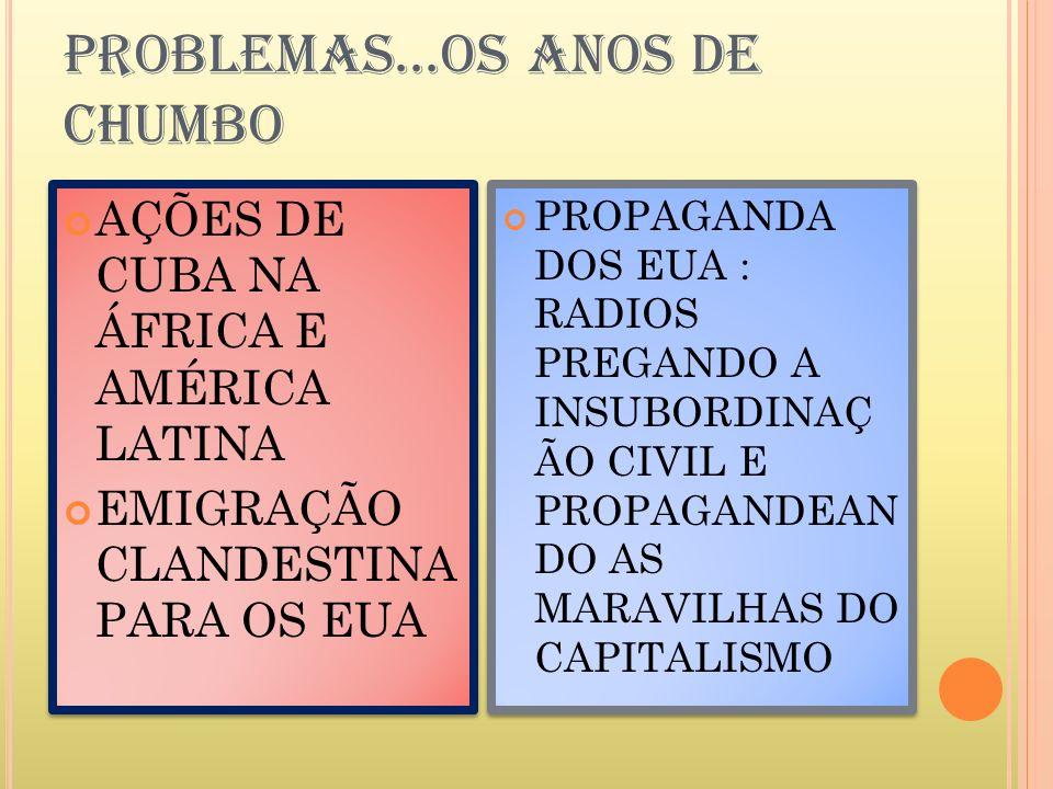 PROBLEMAS...OS ANOS DE CHUMBO
