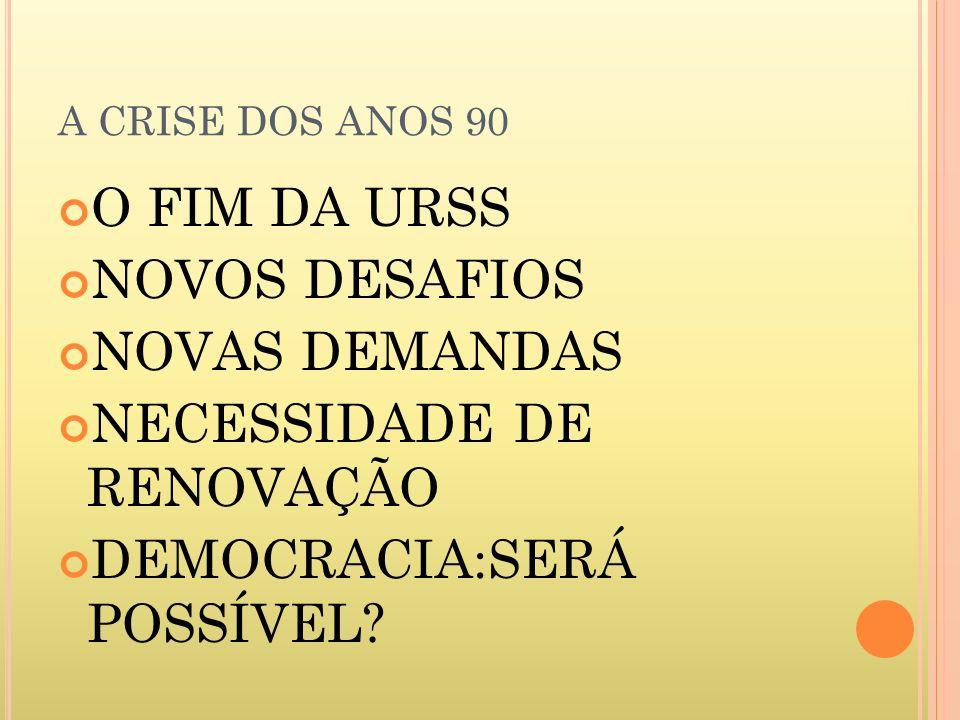 NECESSIDADE DE RENOVAÇÃO DEMOCRACIA:SERÁ POSSÍVEL