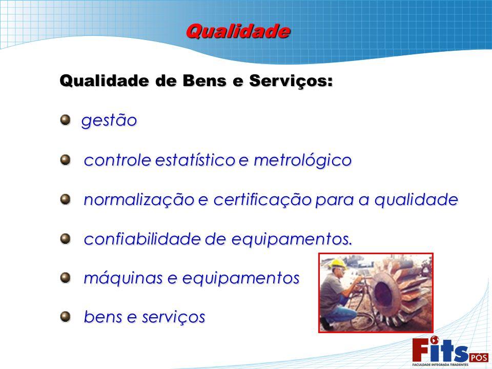 Qualidade Qualidade de Bens e Serviços: gestão