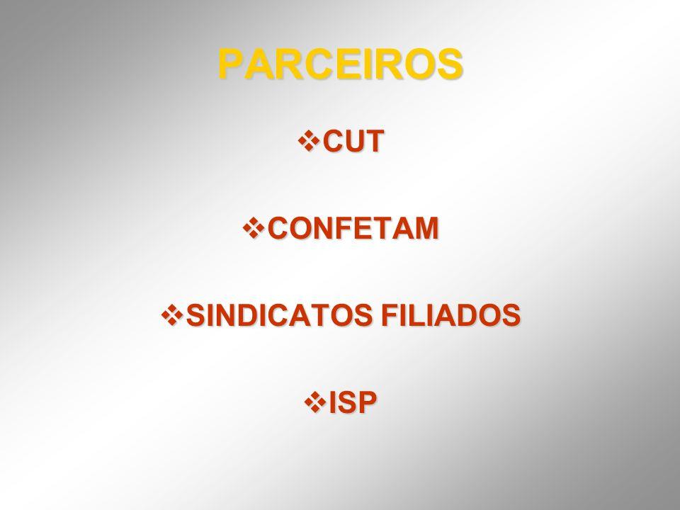 PARCEIROS CUT CONFETAM SINDICATOS FILIADOS ISP