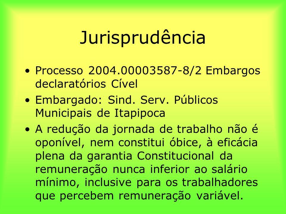 Jurisprudência Processo 2004.00003587-8/2 Embargos declaratórios Cível