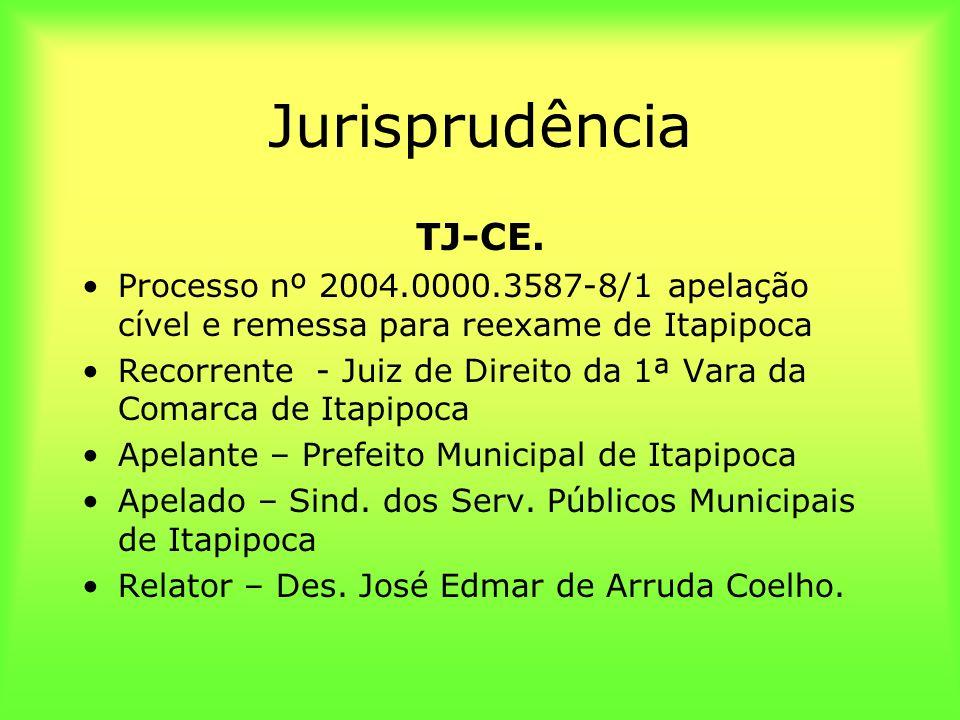 Jurisprudência TJ-CE. Processo nº 2004.0000.3587-8/1 apelação cível e remessa para reexame de Itapipoca.