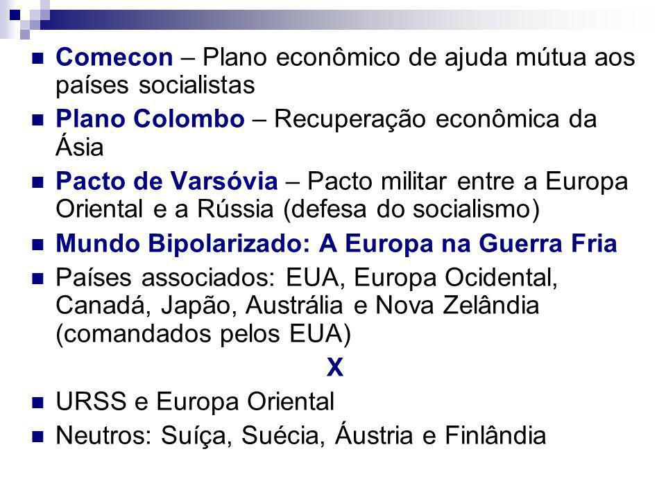 Comecon – Plano econômico de ajuda mútua aos países socialistas