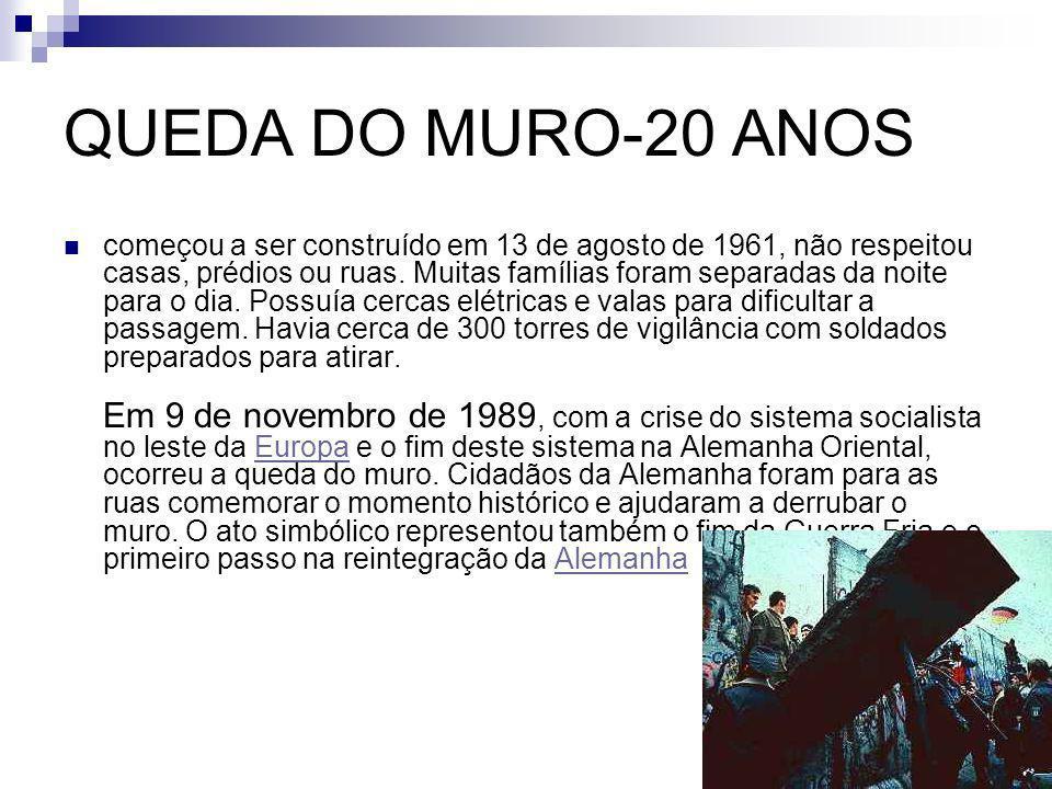 QUEDA DO MURO-20 ANOS