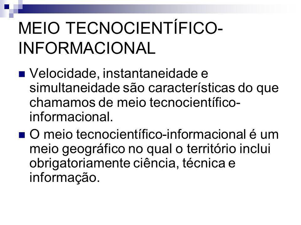 MEIO TECNOCIENTÍFICO-INFORMACIONAL