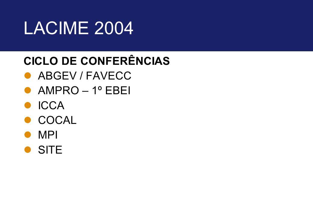 LACIME 2004 CICLO DE CONFERÊNCIAS ABGEV / FAVECC AMPRO – 1º EBEI ICCA
