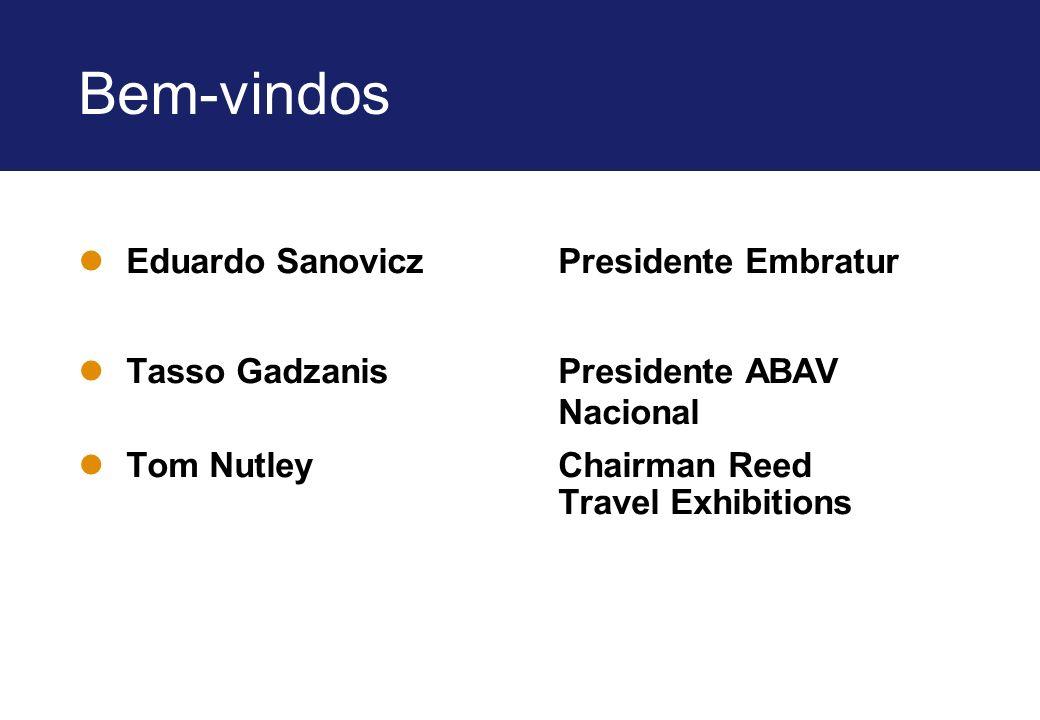 Bem-vindos Eduardo Sanovicz Presidente Embratur