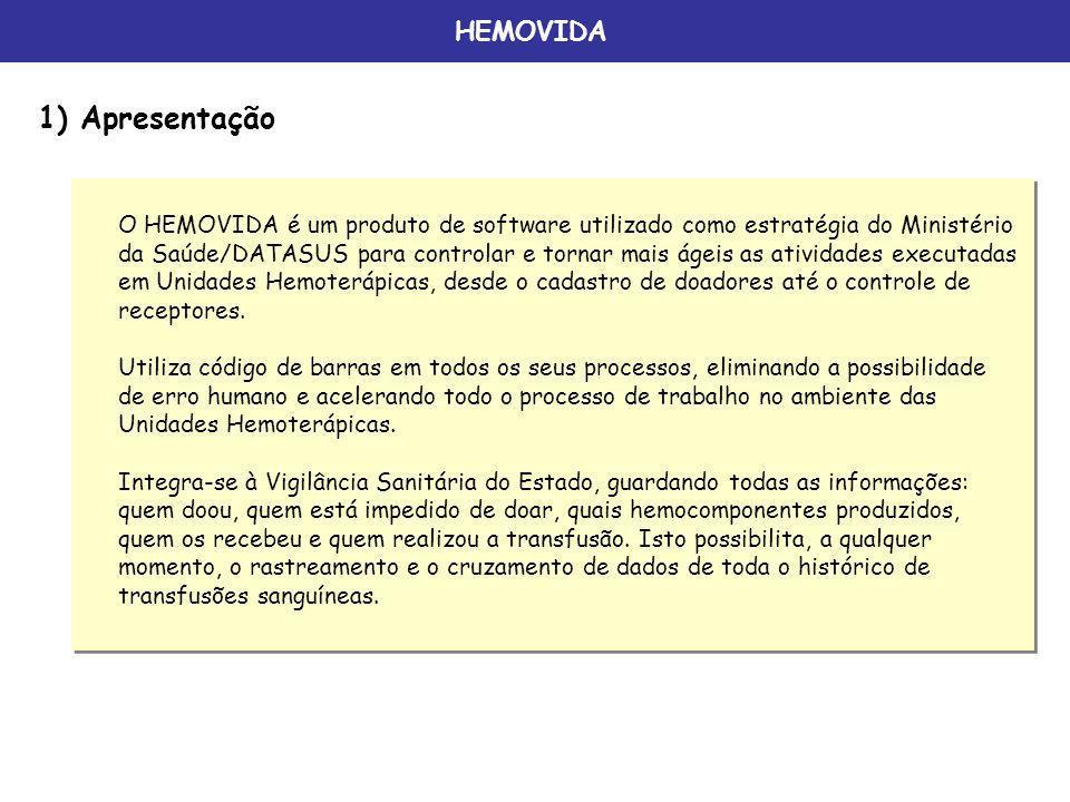 1) Apresentação HEMOVIDA