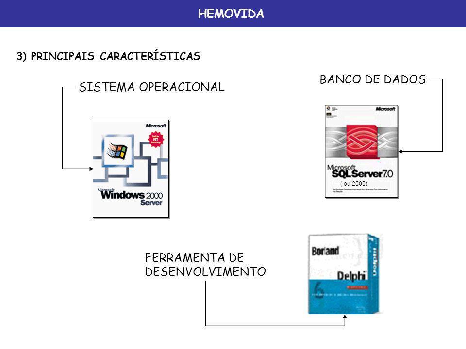 HEMOVIDA BANCO DE DADOS SISTEMA OPERACIONAL FERRAMENTA DE