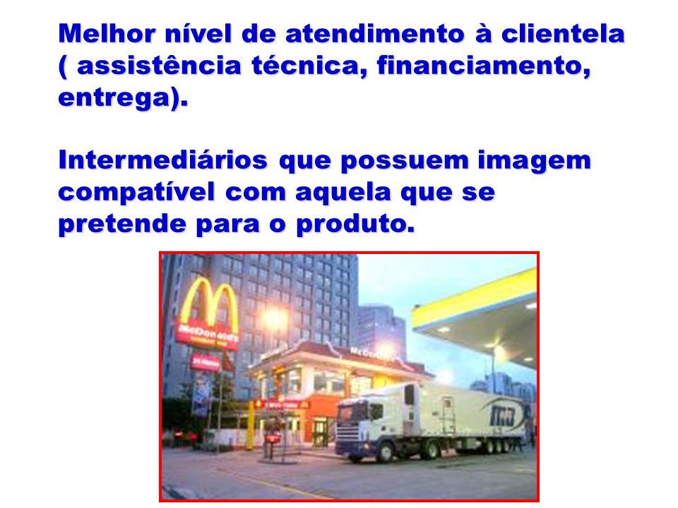 Melhor nível de atendimento à clientela ( assistência técnica, financiamento, entrega).