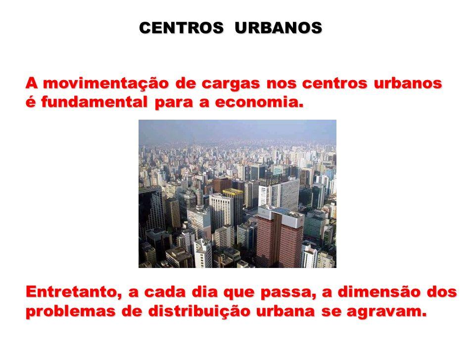 CENTROS URBANOS A movimentação de cargas nos centros urbanos. é fundamental para a economia. Entretanto, a cada dia que passa, a dimensão dos.