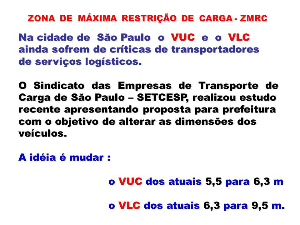 Na cidade de São Paulo o VUC e o VLC
