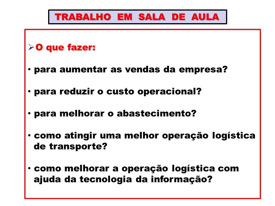 TRABALHO EM SALA DE AULA