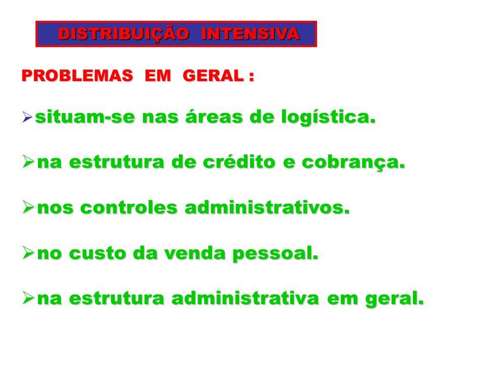 na estrutura de crédito e cobrança. nos controles administrativos.