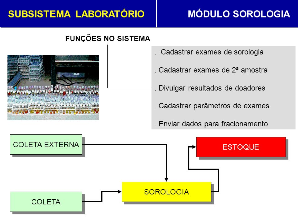SUBSISTEMA LABORATÓRIO MÓDULO SOROLOGIA