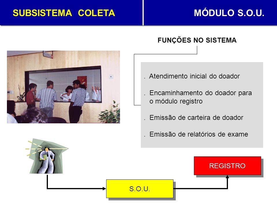 SUBSISTEMA COLETA MÓDULO S.O.U.