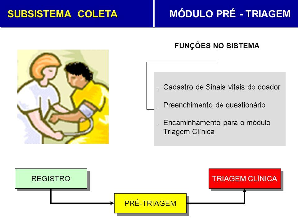 SUBSISTEMA COLETA MÓDULO PRÉ - TRIAGEM
