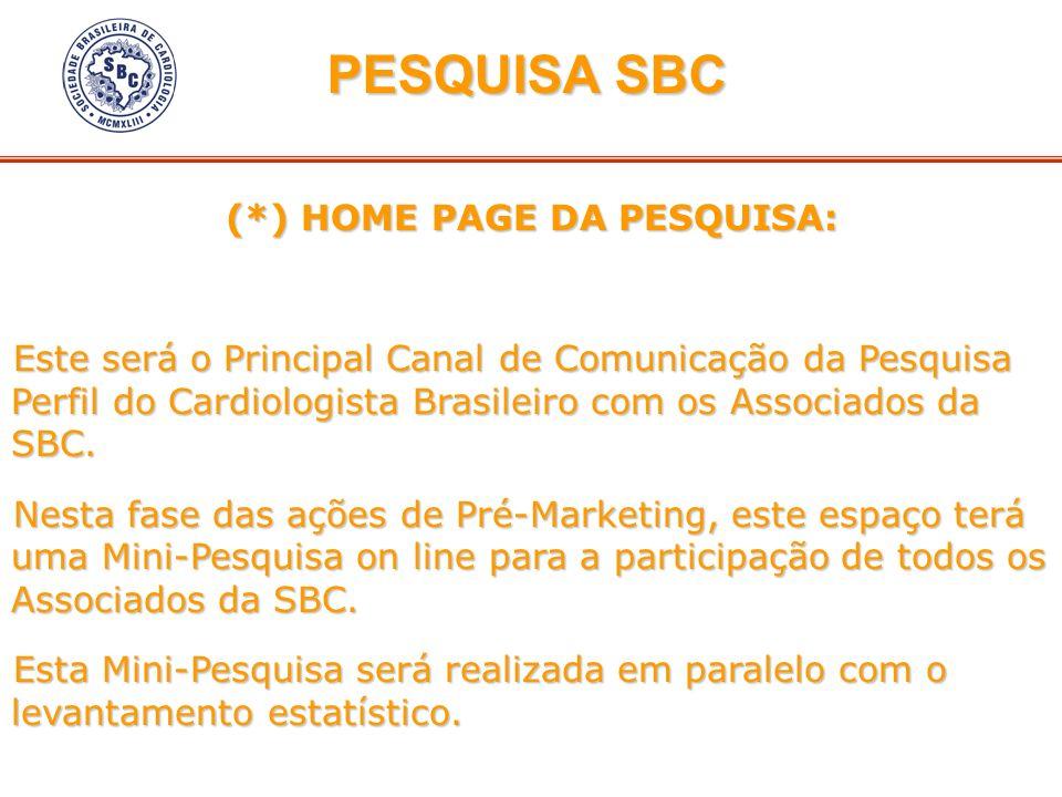(*) HOME PAGE DA PESQUISA: