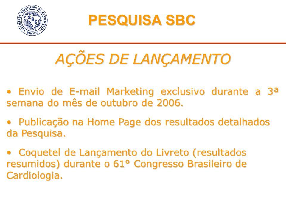 PESQUISA SBC AÇÕES DE LANÇAMENTO