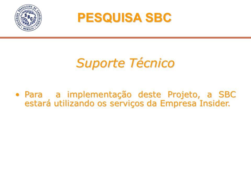 PESQUISA SBC Suporte Técnico