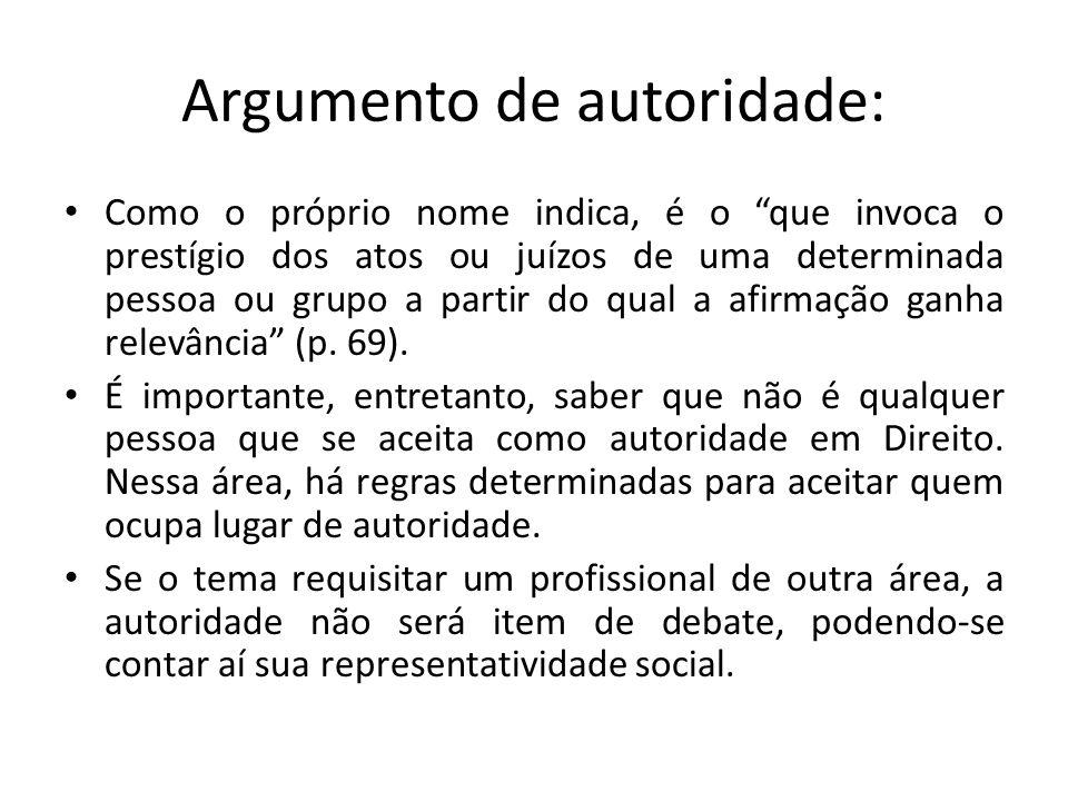 Argumento de autoridade: