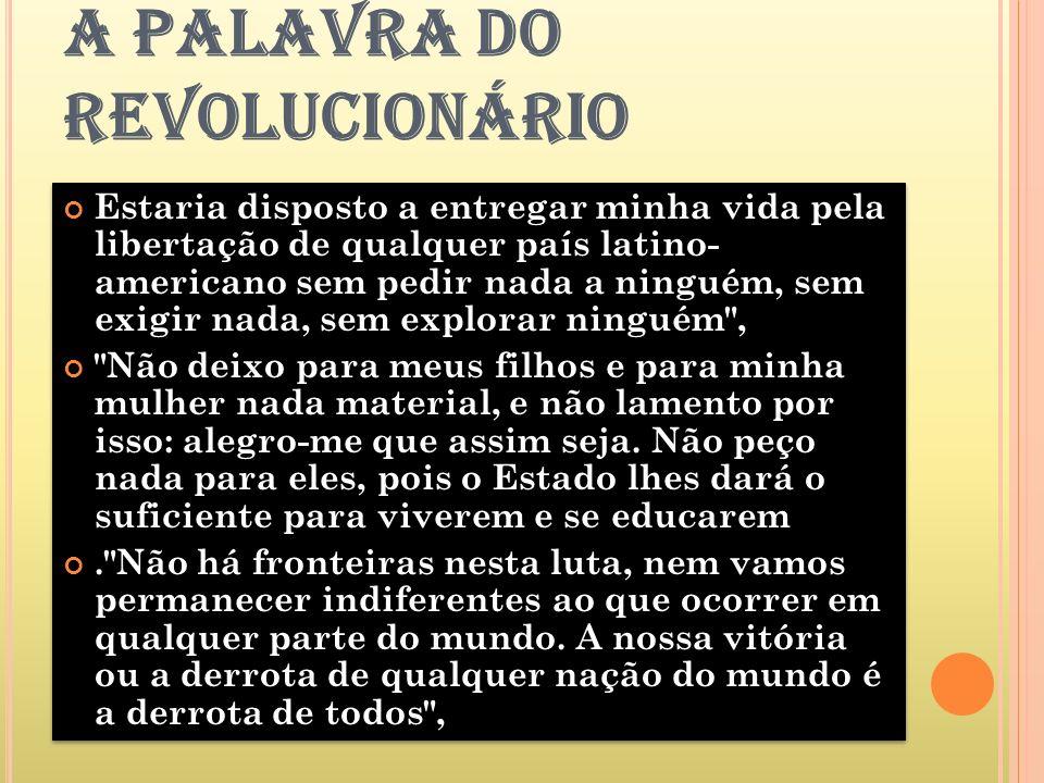 A PALAVRA DO REVOLUCIONÁRIO