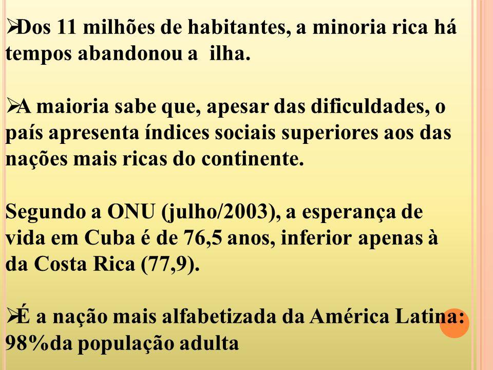 Dos 11 milhões de habitantes, a minoria rica há tempos abandonou a ilha.